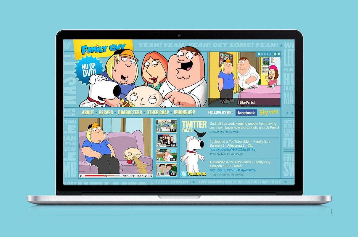 Family Guy - website op macbook