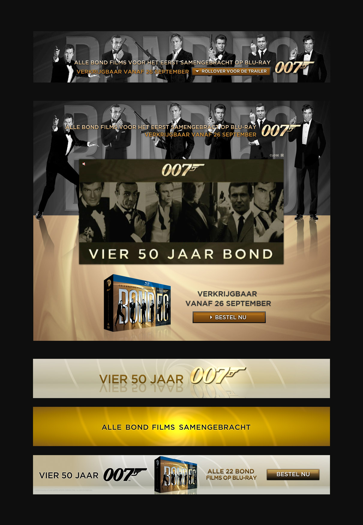 James Bond 50th years anniversary - banner campagne
