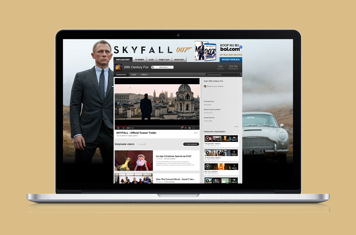 James Bond Skyfall - Youtube channel