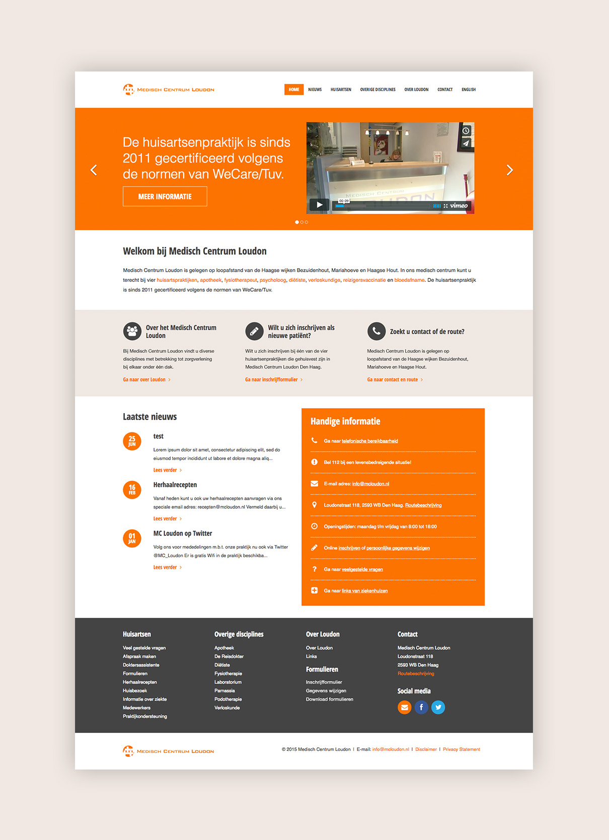 Medisch Centrum Loudon - design homepage
