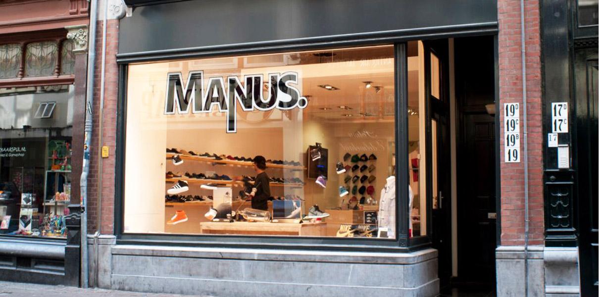 Manus Skateshop - winkel / etalage afbeelding Papestraat 19