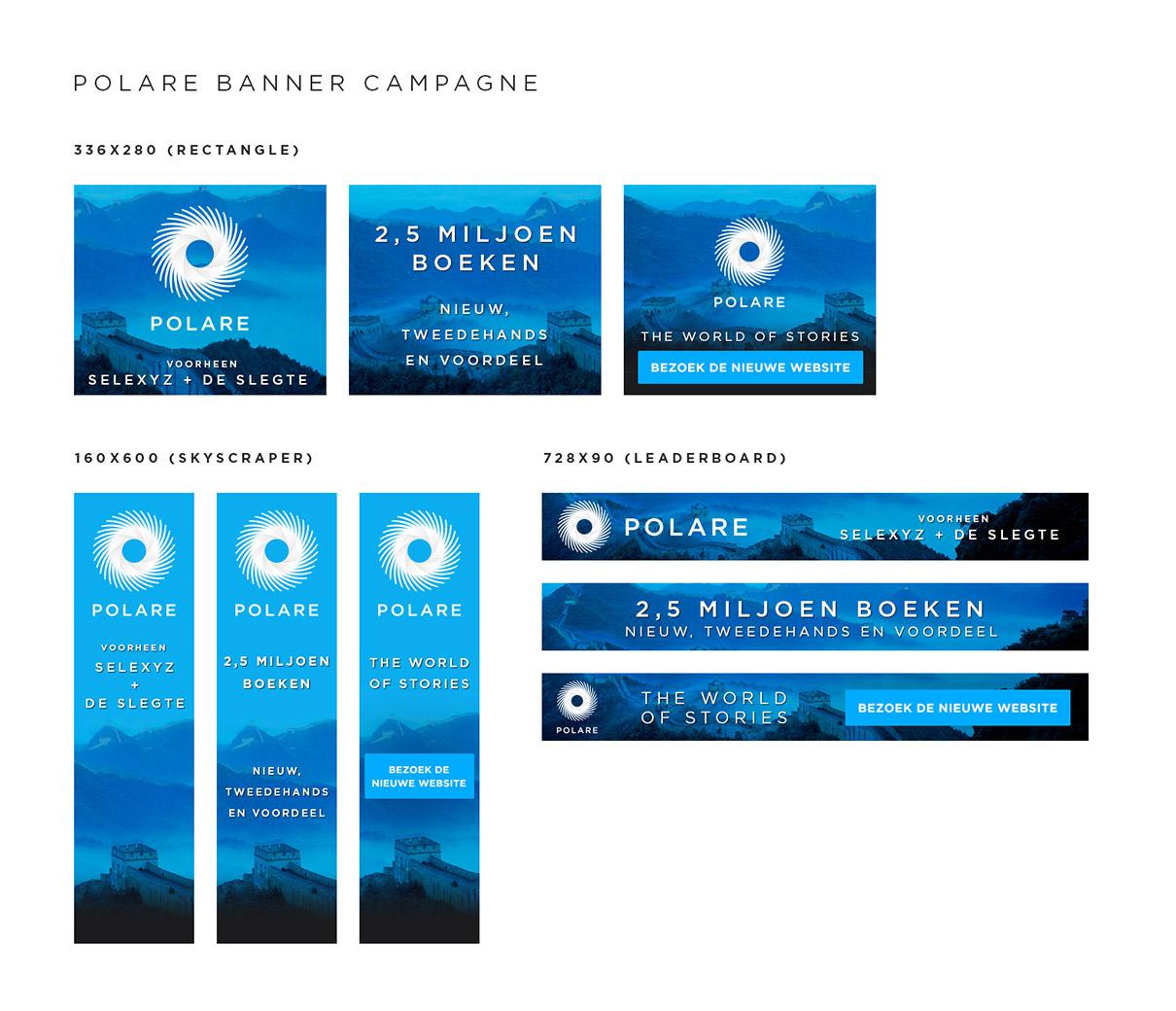 Polare - affiliate banner campagne - lancering nieuwe naam een website