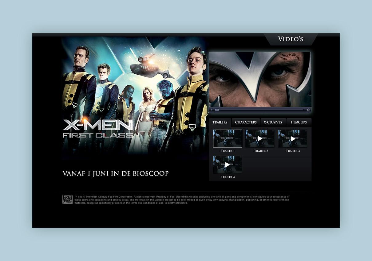X-Men First Class - Video / Campagne pagina